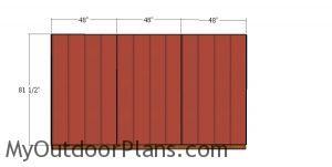 Back wall siding sheets - 8x12 shed