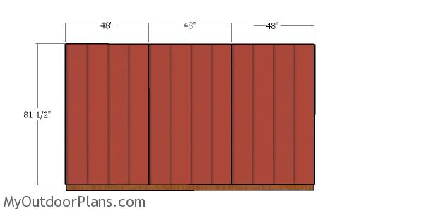 Back wall siding sheets - 8x12 shed