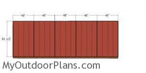Back wall siding sheets - 8x20 firewood shed