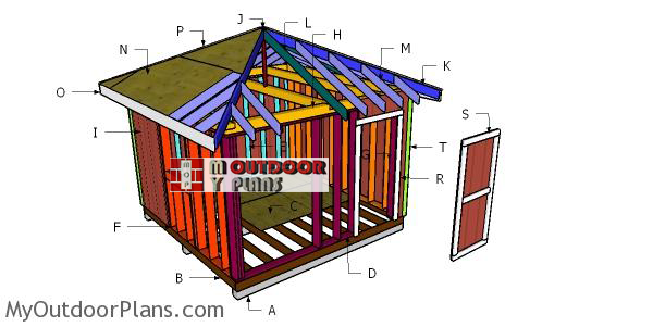 12x12 Hip Roof Shed Plans Myoutdoorplans Free Woodworking Plans And Projects Diy Shed Wooden Playhouse Pergola Bbq