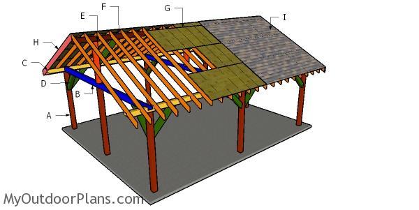 20x24 Pavilion Roof Plans