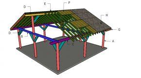 24×24 Pavilion Roof Plans