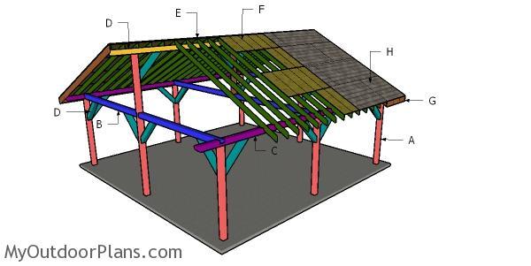 24x24 Pavilion Roof Plans