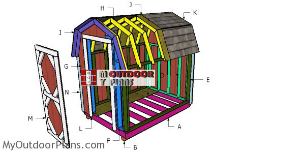Building-a-6x10-gambrel-shed