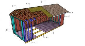 8×20 Firewood Shed Roof Plans