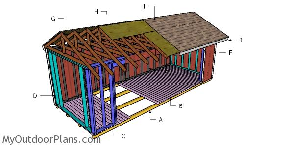 8x20 Firewood Shed Roof Plans