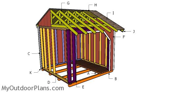 8x8 Firewood Shed Roof Plans
