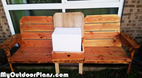DIY Large Double Chair Bench with Cooler