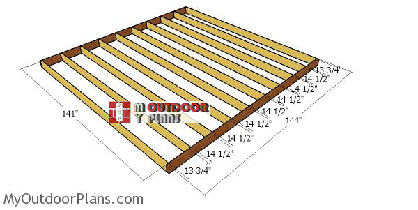 Building-a-floor-frame---12x12-shed