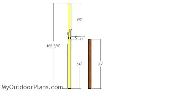 Building the posts - 24x24 pavilion