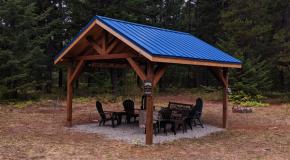 DIY 14×14 Outdoor Pavilion