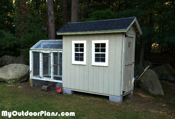 DIY 4x8 Chicken Coop Shed