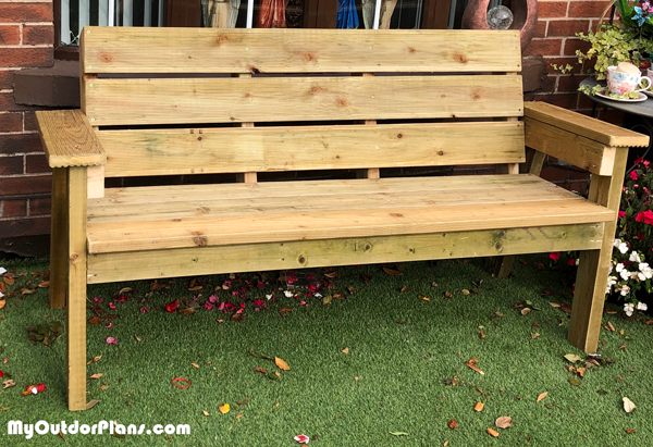 DIY Deck Board Outdoor Bench