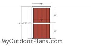 Double doors for 10x24 gable shed
