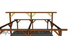 Fitting the braces - ridge beam