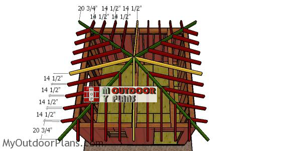 Fitting-the-jack-rafters---12x12-shed