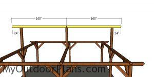 Fitting the ridge beams