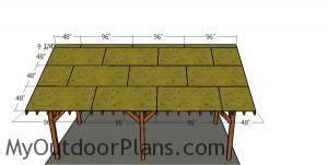 Fitting the roof sheets - 20x24 pavilion