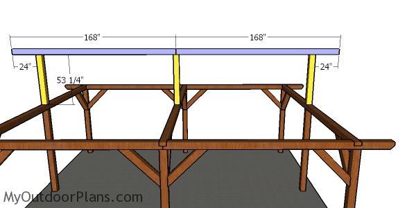Fitting the top ridge - 20x24 pavilion