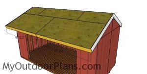 Front and back roof trims - 8x16 firewood shed