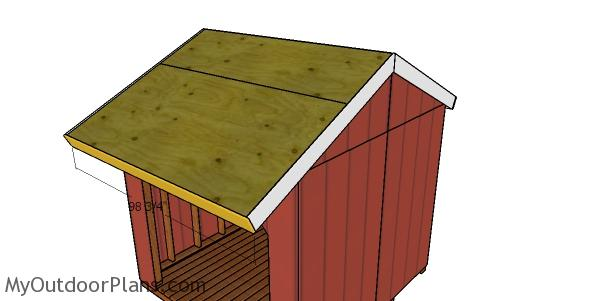 Front and back roof trims - 8x8 shed