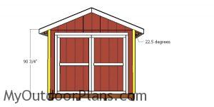 Front and back wall trims - 10x24 storage shed