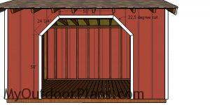 Front opening - 8x12 firewood shed