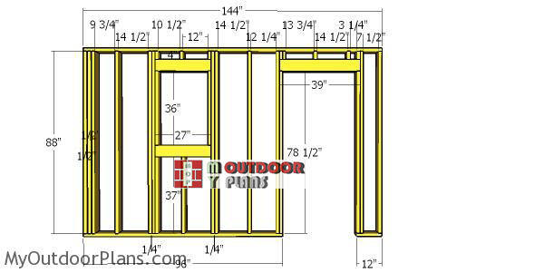 Front-wall-frame---12x12-hip-roof-shed