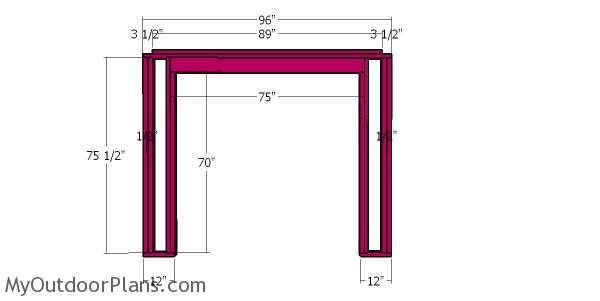Front wall frame - 8x8 firewood shed