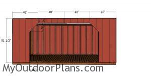 Front wall panels - 8x16 firewood shed plans