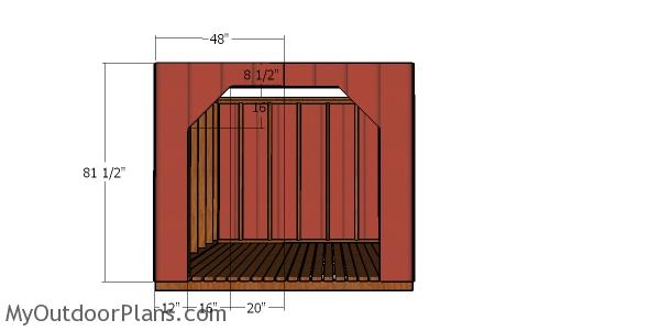 Front wall panels - 8x8 firewood shed