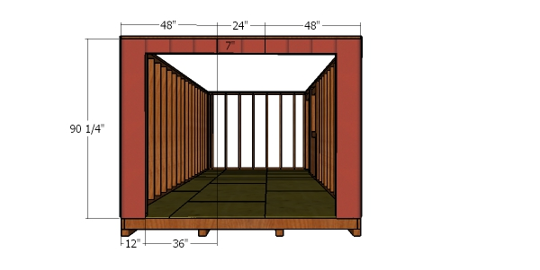 Front wall siding sheets - 10x24 shed