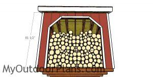Front wall trims - 8x8 firewood shed