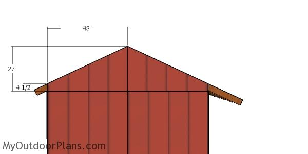 Gable end panels - 8x16 wood shed