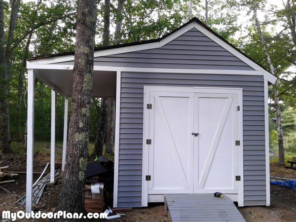DIY 10x14 Shed with Porch