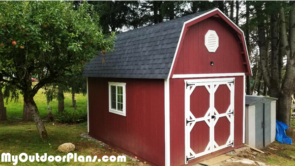 12x16 Gambrel Shed - DIY Project
