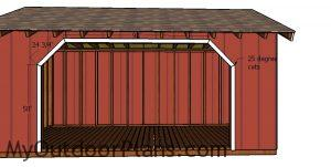 Opening trims - 8x16 firewood shed