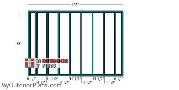 Plain-side-wall-frame---12x12-shed