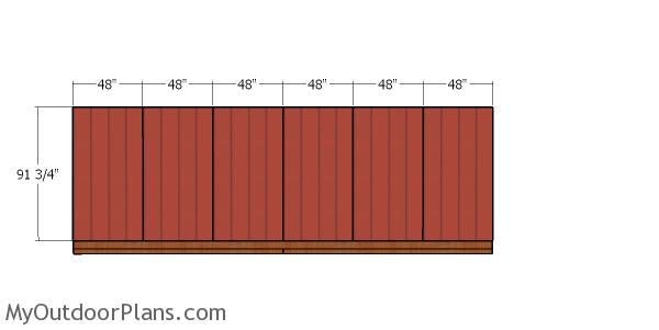 Plain side wall siding sheets