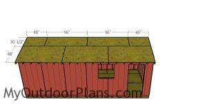 Roof sheets - 10x24 garden shed with gable roof