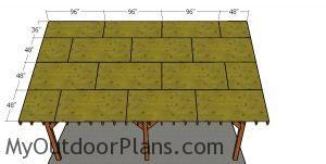 Roof sheets - 24x24 pavilion