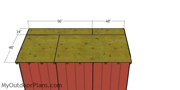 Roof sheets - 8x12 firewood shed