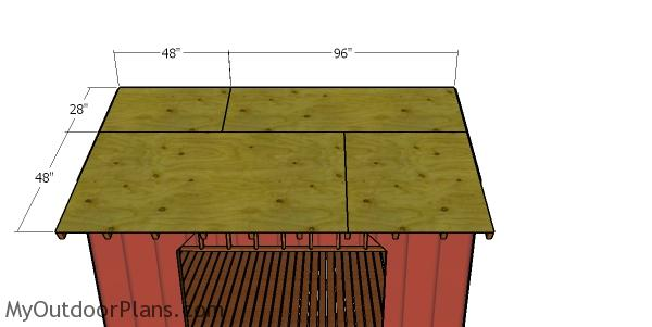 Roof sheets - 8x12 wood shed