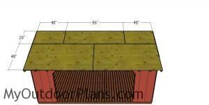 Roof sheets - 8x16 wood shed