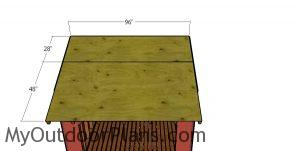 Roof sheets - 8x8 firewood shed
