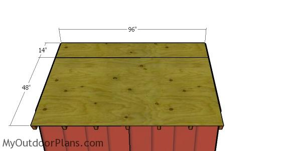 Roof sheets - 8x8 shed with gable roof