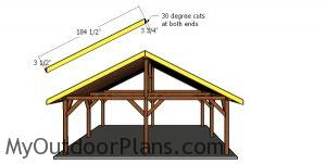 Roof trims - front and back - 24x24 pavilion