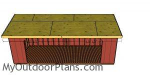 Roof trims - front and back