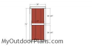 Side door - 10x24 gable storage shed