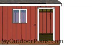 Side door jambs - 10x24 shed
